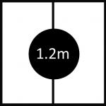 1200mm diameter revolving stage