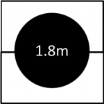 1800mm diameter revolving stage