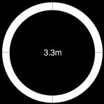 3300mm diameter revolving stage circular surround