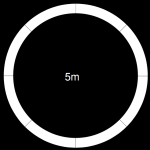 5000mm diameter revolving stage circular surround