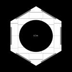 12000mm hexagonal revolving stage surround