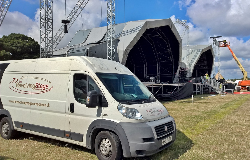 Carfest South - TRSC van in front of main stage