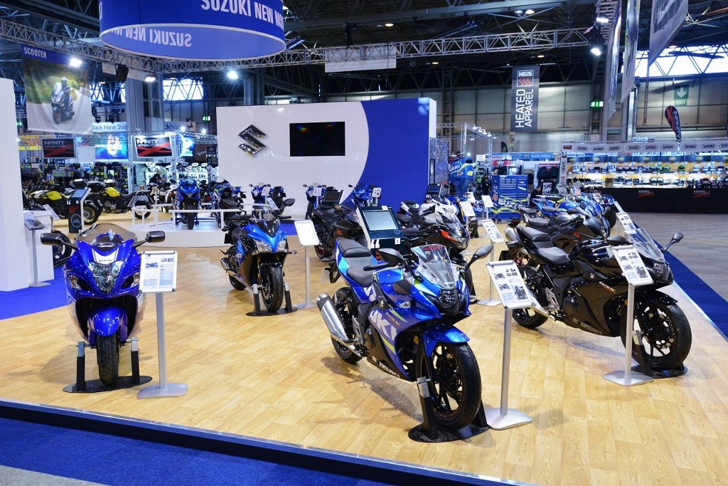 2.5m with rails - Suzuki at Motorcycle Live 2017