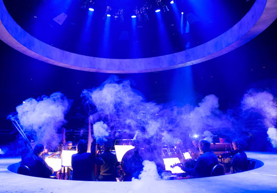 Revolving Stage being used for a live show