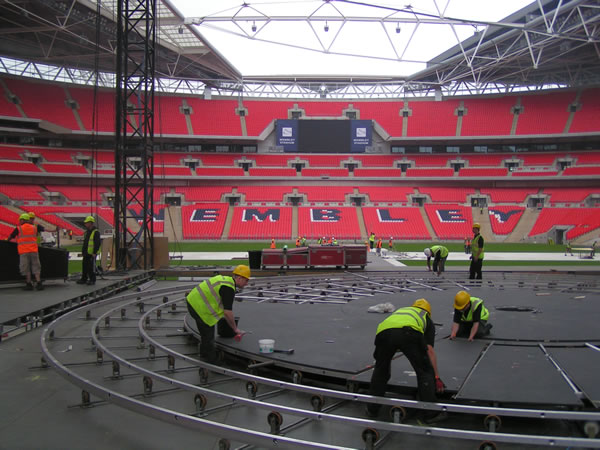 Revolving Stages At Wembley