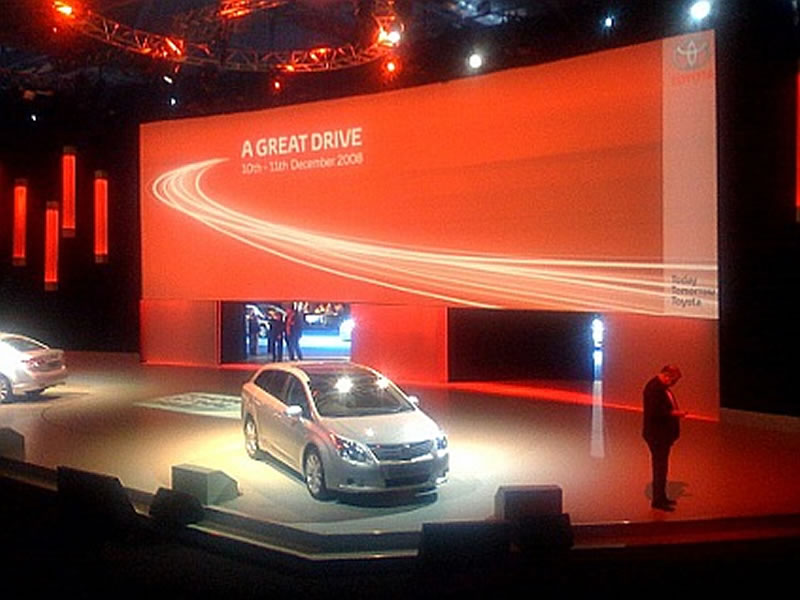Stage Hire For Car Launch