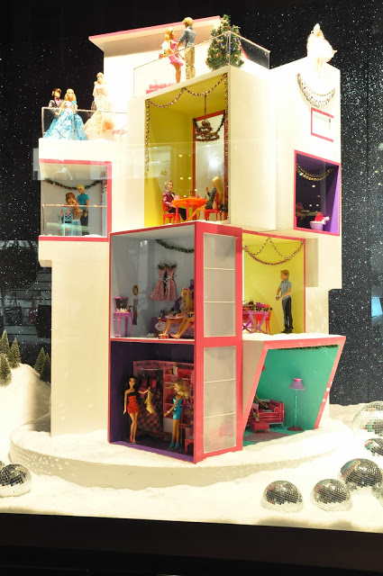 Barbie Christmas Window